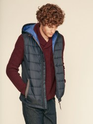 Aigle Burgsonvest Hooded Gilet L Navy