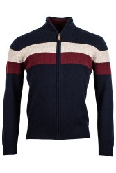 Baileys Stripe Quarter Zip XL Navy-105