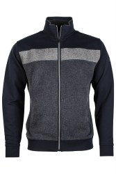 Baileys Full Zip Block Sweatshirt t L Navy/Grey-105