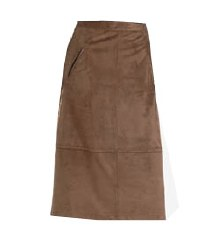 Dianr Laury Suede Skirt 10 Brown