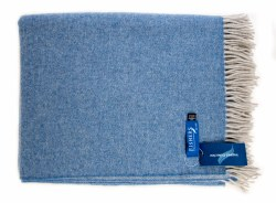 Fishers Lambswool Throw Grey/Blue-692