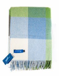 Fishers Lambswool Throw Green/Blue