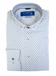 Fishers Plain Button Down Shirt M White
