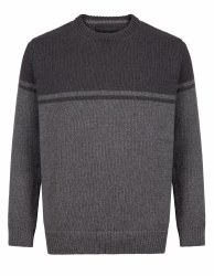 Irelands Eye Buncrana Two Tone Jumper L Graphite
