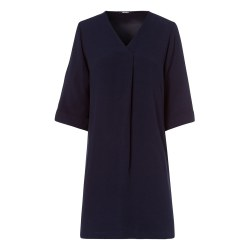 OLsen Pleat Front Dress 12 Navy