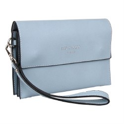 Red Cuckoo Small Clutch Blue