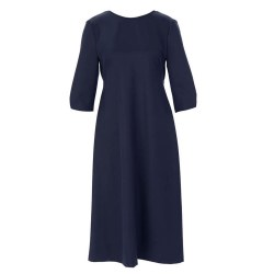 Riverwoods Midi Low Back Dress 10 Navy