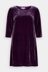 Seasalt Trevissick Velet Dress 10 Grape