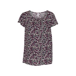 Soya Concept Animal Print T-Shirt 14 Fuschia