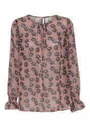 Soya Concept Blondie Print Blouse 10 Rose Smoke