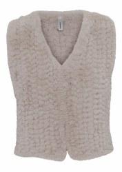 Soya Concept Bernia Faux Fur Waistcoat 14 Beige