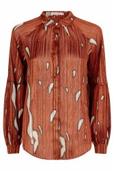 Traffic People Print Blouse S Rust
