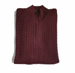 Wilson & Sloane Mildura Cable Knit 1/4 Zip Jumper L