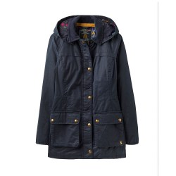 Joules Daubenay Faux Wax Jacket with Hood 12