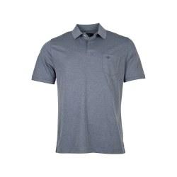 Baileys Mottled Polo Shirt L Dark Blue