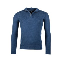 Baileys Textured 1/4 Zip Jumper 3XL Blue