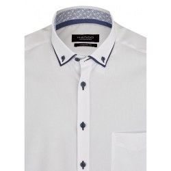 Hatico Double Collar Shirt 41/L White