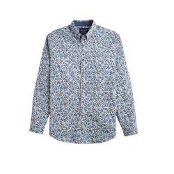 Joules Invitation Print Shirt M White Ditsy