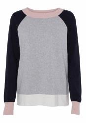 Soya Concept Colour Block Jumper M Grey