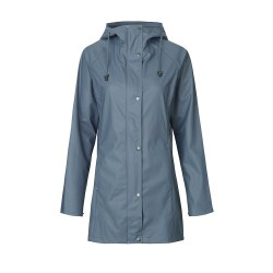 Ilse Jacobsen Rubber Raincoat 10 Blue Gray