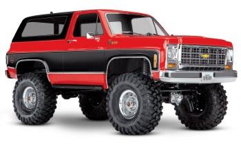 Traxxas TRX-4 1/10 Trail Crawler Truck w/ 79' Chevrolet K5 Blazer Body (Red)