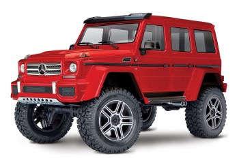 Traxxas TRX-4 1/10 Trail Crawler Truck w/ Mercedes Benz G500 4x4 Squared Body (Red)