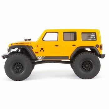 Axial  SCX24 2019 Jeep Wrangler 1/24 4WD Ready to Run Scale Mini Crawler (Yellow)