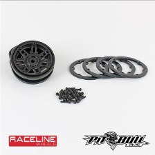 "Pit Bull RC Racline #931 Injector 2.2"" Beadlock Wheels (Black/Black) (2)"