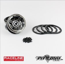 "Pit Bull RC Racline #931 Injector 2.2"" Beadlock Wheels (Chrome/Black) (2)"