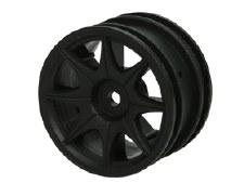 3Racing 60D 8 Spoke Black Wheels for Tamiya M-Chassis
