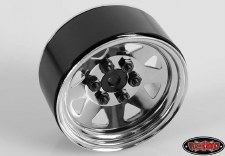 "RC4WD 6 Lug Wagon 1.9"" Steel Stamped Beadlock Wheels (Chrome) (4)"