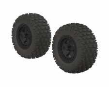 Fortress SC Tire Set Glued Bla