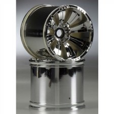 Axial 8-Spoke 40 Series Oversize Wheel - Chrome (2)