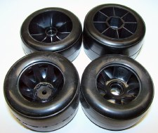 CRC RT1 Front & Rear Formula 1 Wheels with Rubber Tires (4)