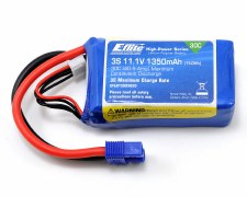 Eflite 11.1V 1350mah 3S 30C Lipo Battery with EC3 Connector