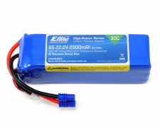 Eflite 22.2V 2900mah 6S 30C Lipo Battery with EC3 Connector
