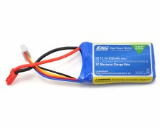 Eflite 11.1V 450mah 3S 30C Lipo Battery with JST Connector