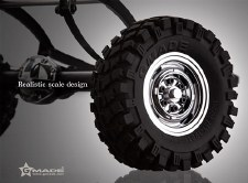 Gmade VR01 Rock Crawler Chrome Beadlock Wheels (2)
