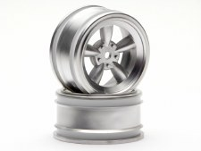 HPI 26mm Vintage 5-Spoke Matte Chrome Wheels (2)
