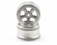 HPI 31mm Vintage 5-Spoke Matte Chrome Wheels (2)