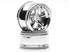 HPI 31mm Vintage 5-Spoke Chrome Wheels (2)