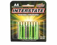 Interstate AA Alkaline Batteries (4)