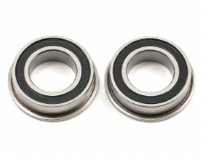 Losi Flanged 8x14x4mm Rubber Sealed Ball Bearings (2)