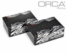 "ORCA 7.4V 6000mah 2S 90C ""Saddle Pack"" Lipo Battery"
