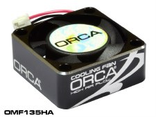 ORCA 25mm Cooling Fan with Aluminum Housing (Black)