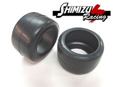 Shimizu Racing PS-0571 Front Soft Slick Tire with Insert (F1) (2)