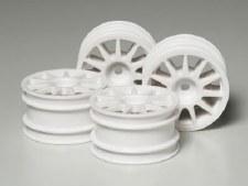 Tamiya M-Chassis Suzuki Swift Wheels (4) (White)