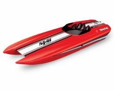 "Traxxas DCB M41 40"" Catamaran Brushless Ready to Run Race Boat (Red)"