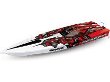 "Traxxas Spartan High Performance 36"" Brushless Ready to Run Race Boat (Red)"