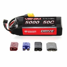 Venom 11.1V 5000mah 3S 50C Lipo Battery with Universal Connector